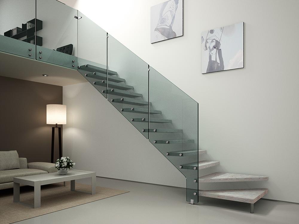 Scala a sbalzo in legno beretta scale - Scale in marmo per interni moderne ...